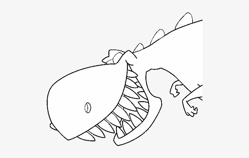 Dinosaur With Sharp Teeth Coloring Page Dientes De Dinosaurios