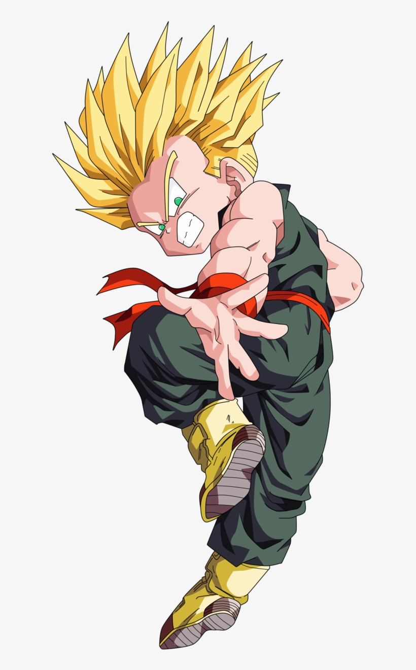 Kid Goku, Dragon Ball Gt, Trunks Super Saiyan, Goku - Kid Trunks Super Saiyan Png, transparent png #2328749