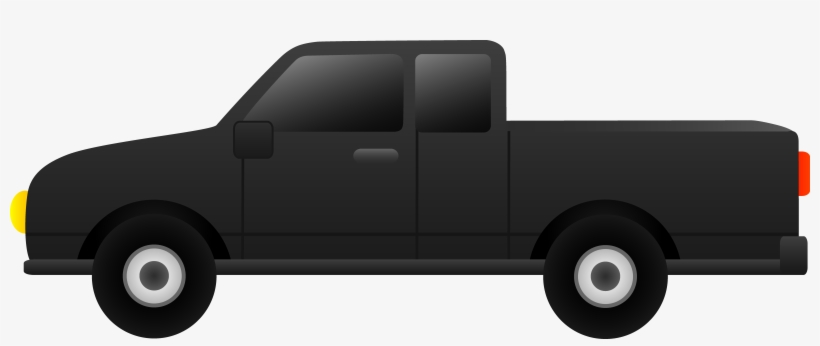 Black Pickup Clip Art Free - Black Pick Up Truck Clip Art, transparent png #2333497