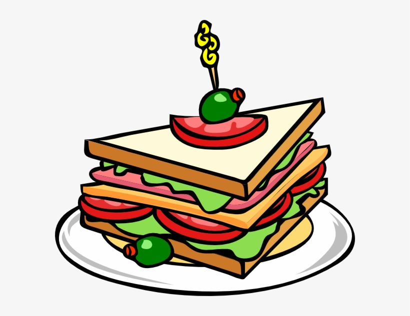 Food Clipart Picnic Food - Sandwich Clip Art, transparent png #2336683