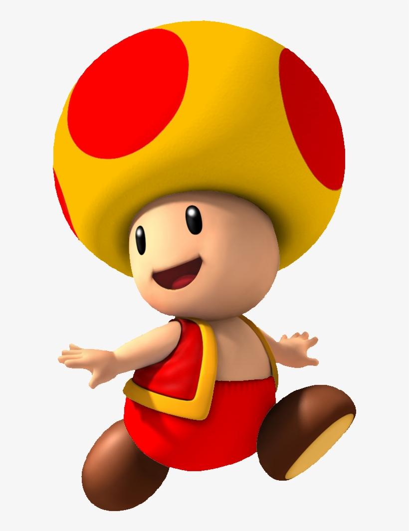Fire Yellow Toad By Mr Mushroom Super Mario Kart Free