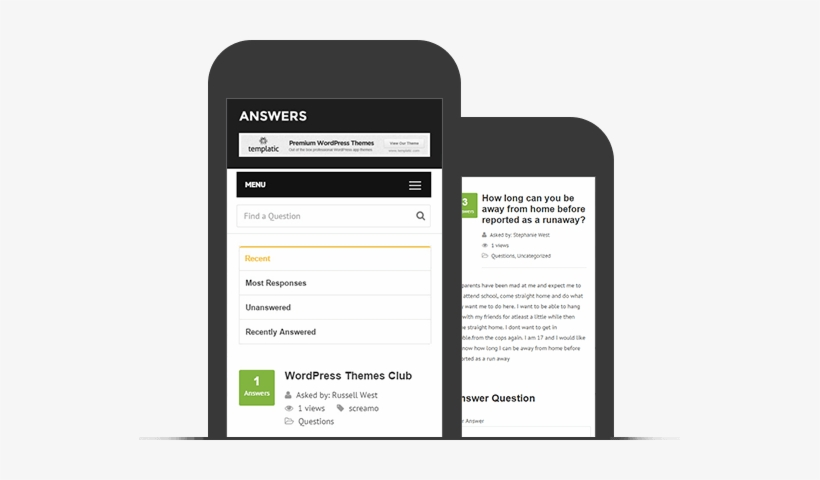 Mobile Friendly And Responsive Q&a Theme - Question Answer