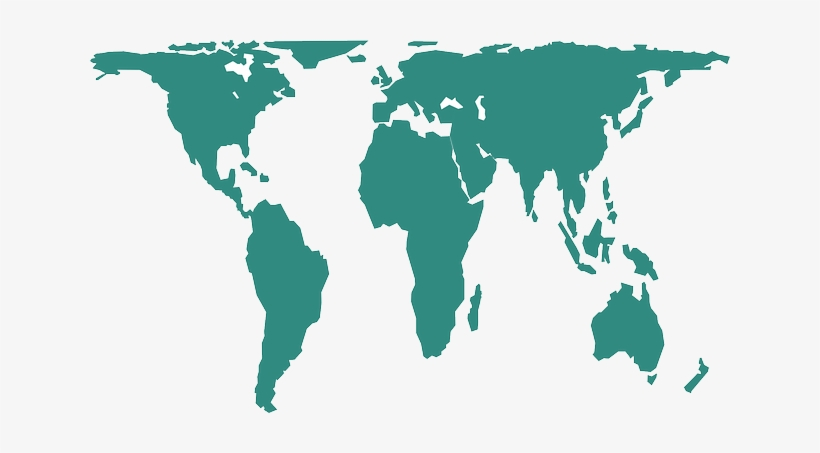 World Earth Continents Geography Map Peters Projection Map