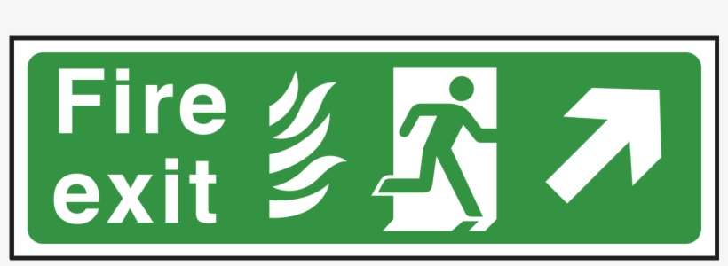 Arrow Up Right - Office Emergency Exit Sign, transparent png #2341458