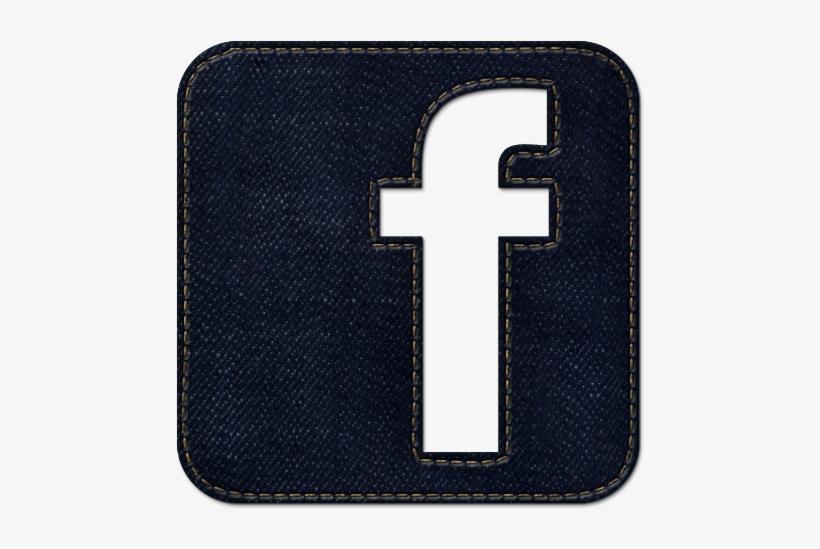 100393 High Resolution Dark Blue Denim Jeans Icon Social - Dark Blue Facebook Logo, transparent png #2342280