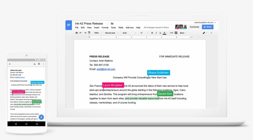 G Suite Docs - Google Docs Working Together, transparent png #2343645