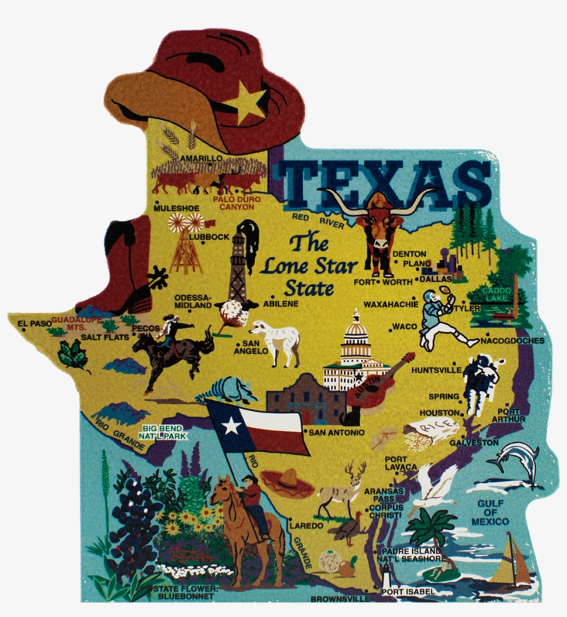 United States Map, Texas The Lone Star State, transparent png #2343834