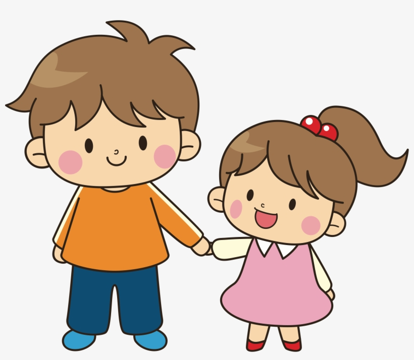 Image Transparent Library Collection Of Older Brother - Brother And Sister Cartoon, transparent png #2344693
