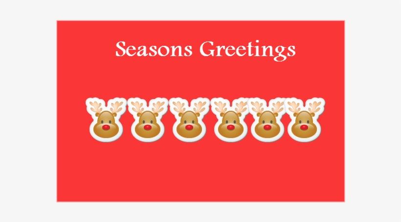 Seasons Greeting Cards With Reindeer - Season's Greetings Christmas Card, transparent png #2346042