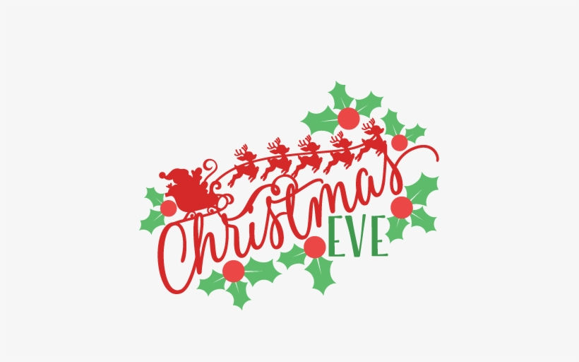 Christmas Eve Clipart.Vector Library Download Phrase Svg Scrapbook Cut File