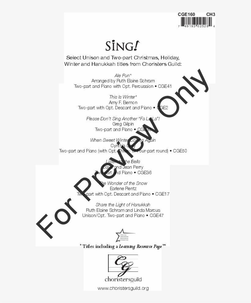 Thumbnail Season's Greetings Thumbnail - Festive Fanfare Sheet Music, transparent png #2346445