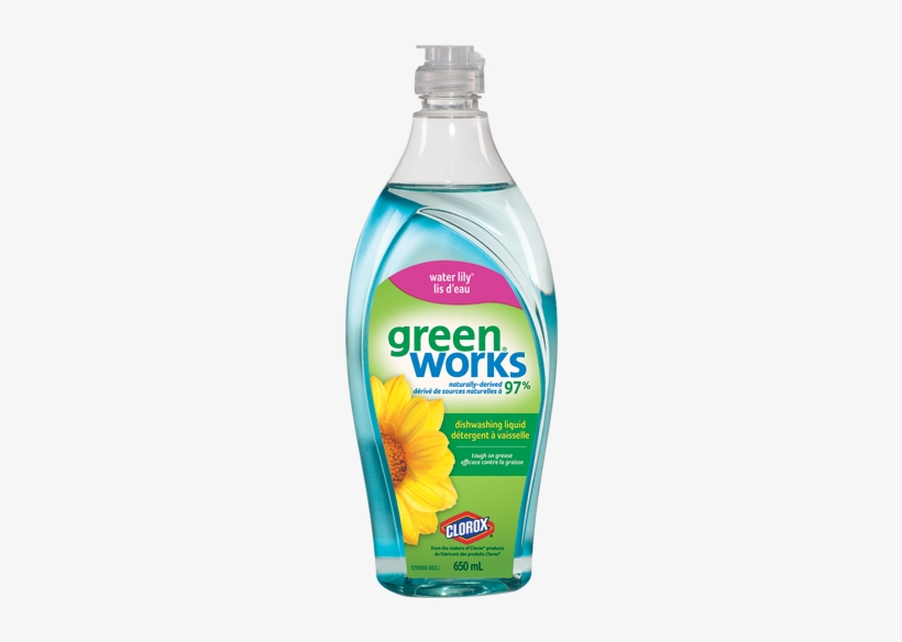 Green Works Dishwashing Liquid Water Lily - Green Works Dishwashing Liquid - Water Lily 650 Ml, transparent png #2349887