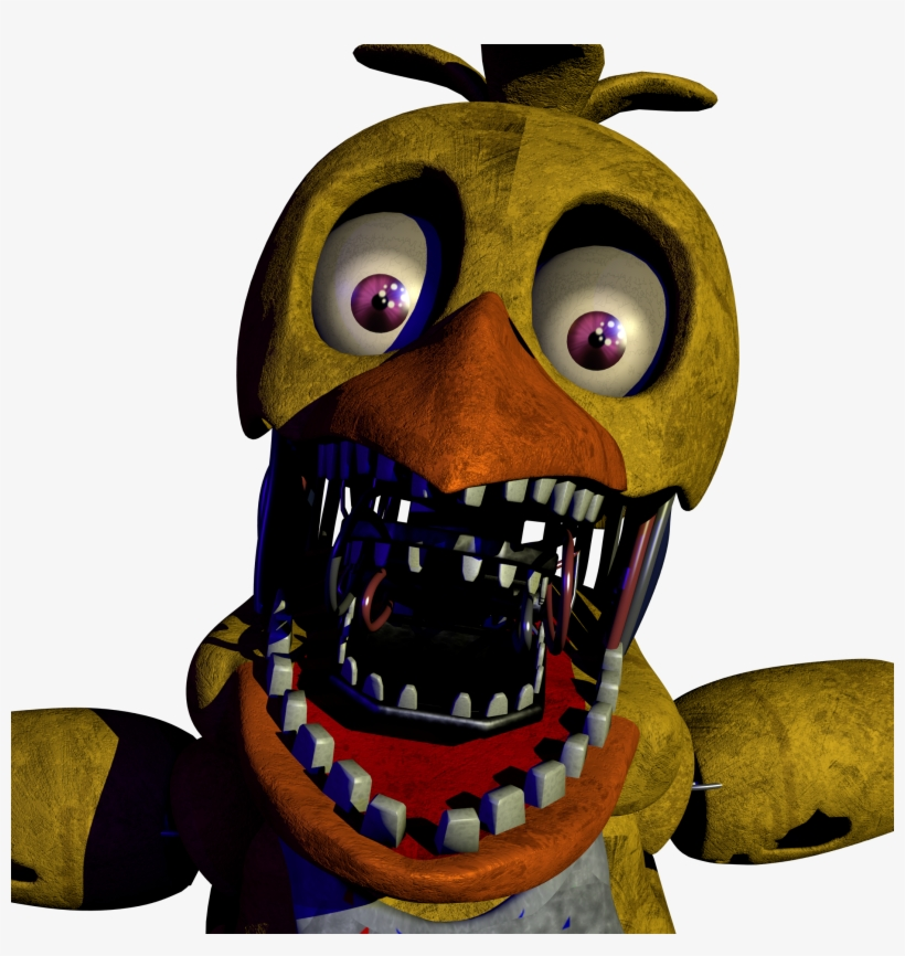 Free Download Fnaf Withered Chica Png Clipart Five