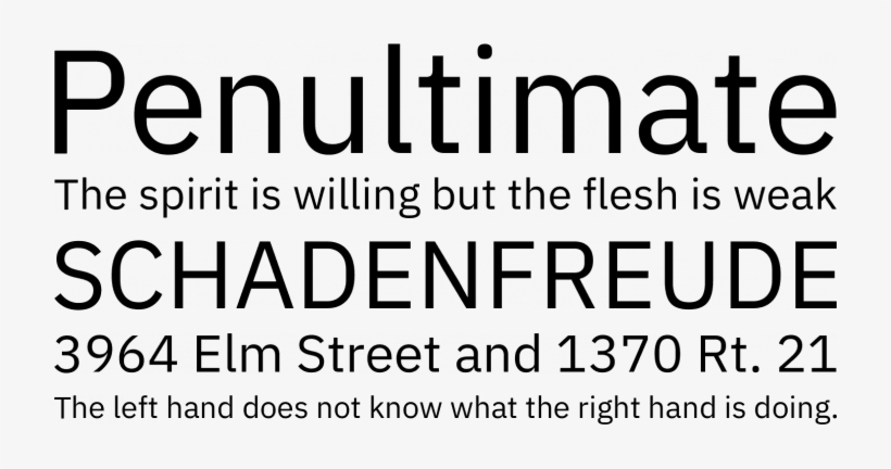 Ibm Plex Font Phrases - Roboto Font - Free Transparent PNG