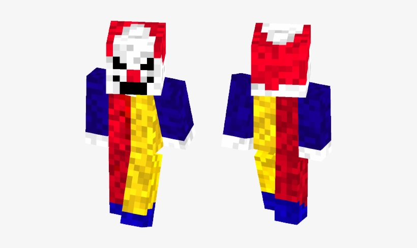 Male Minecraft Skins - Evil Clown, transparent png #2360625