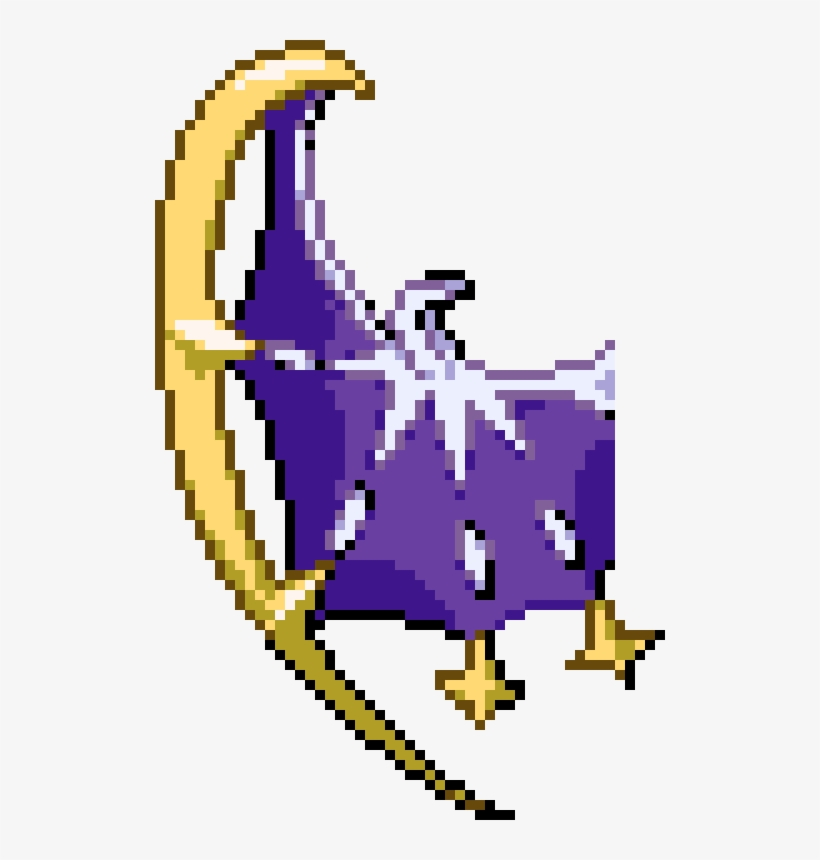 Lunala Not Completed Tggw Pokemon Lunala Pixel Art Free
