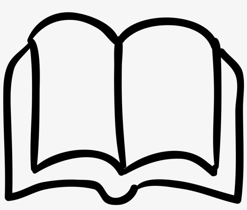 Book Opened Outlined Hand Drawn Tool Comments - Hand Drawn Book Icon, transparent png #2370715