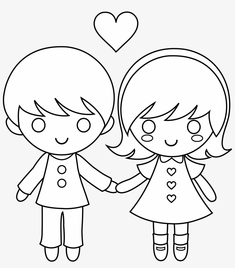 Child Clipart At Getdrawings Com Free For - Draw A Little Boy And Girl Holding Hands, transparent png #2375451
