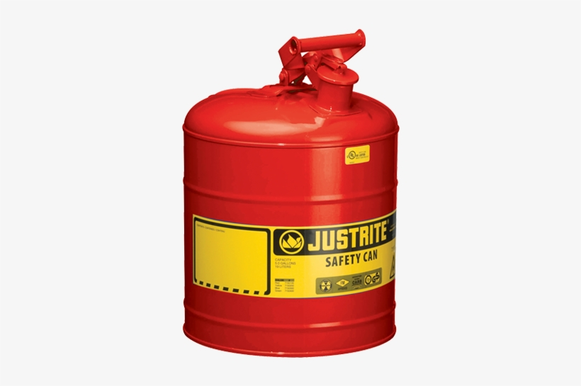 Justrite 2 Gal. Type 1 Steel Safety Can 7120100, transparent png #2376203