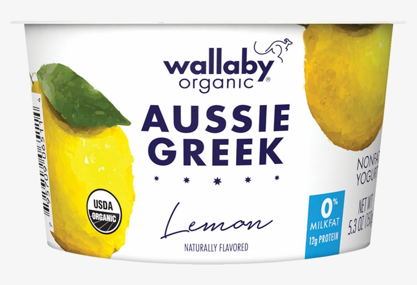 Wallaby Lemon Organic Greek Nonfat Yogurt - Wallaby Greek Yogurt Vanilla Bean, transparent png #2376246