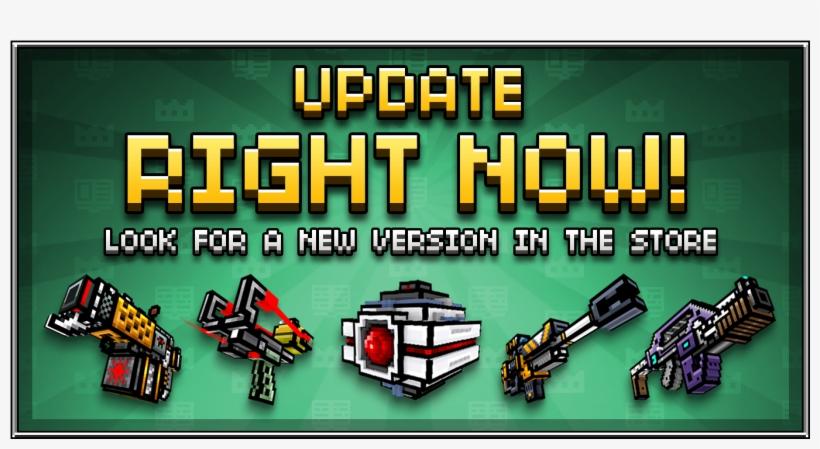 Pixel Gun 3d On Twitter - Pixel Guns 3d Update, transparent png #2377752