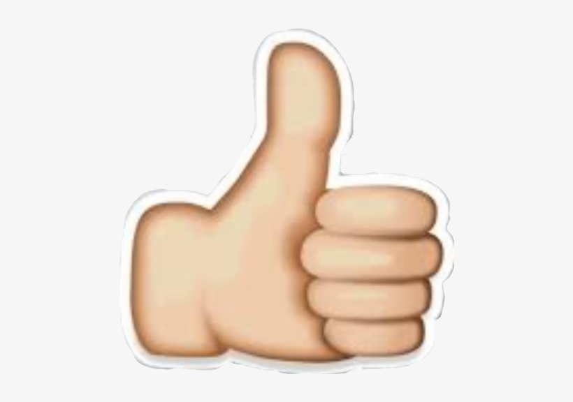 Thumbs Up Youtube Emoji, transparent png #2377909
