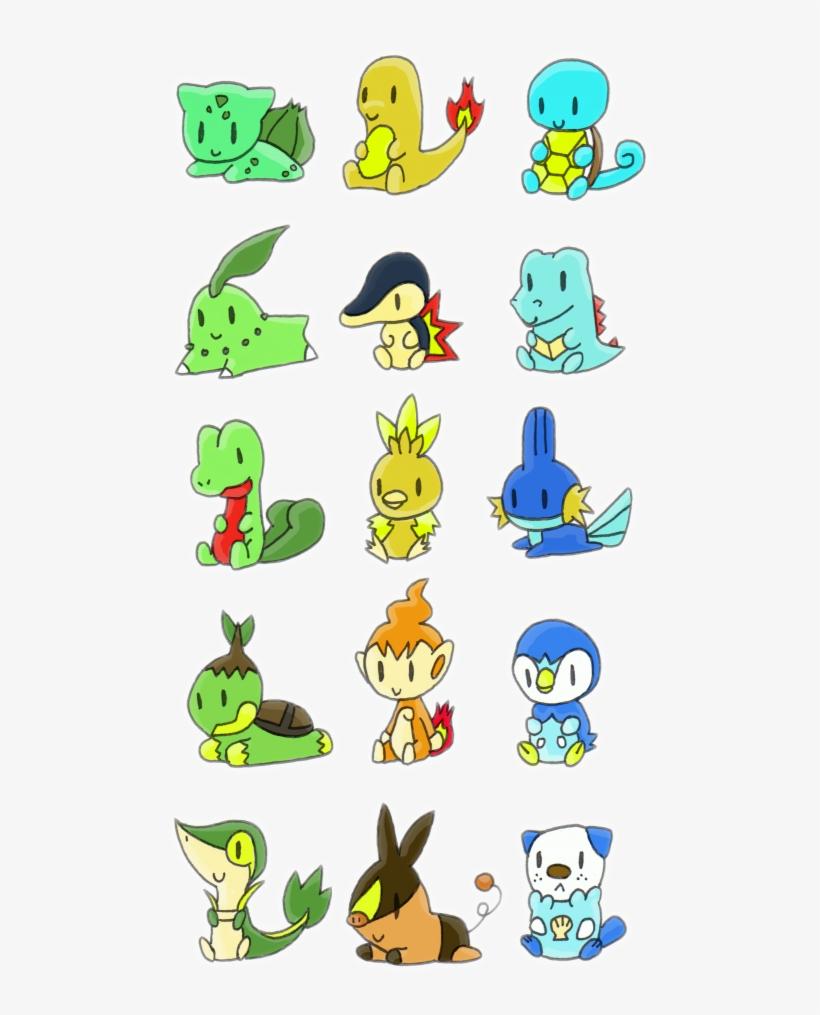 Chibi Starter Pokemon Pokemon Starters All Things Pokemon