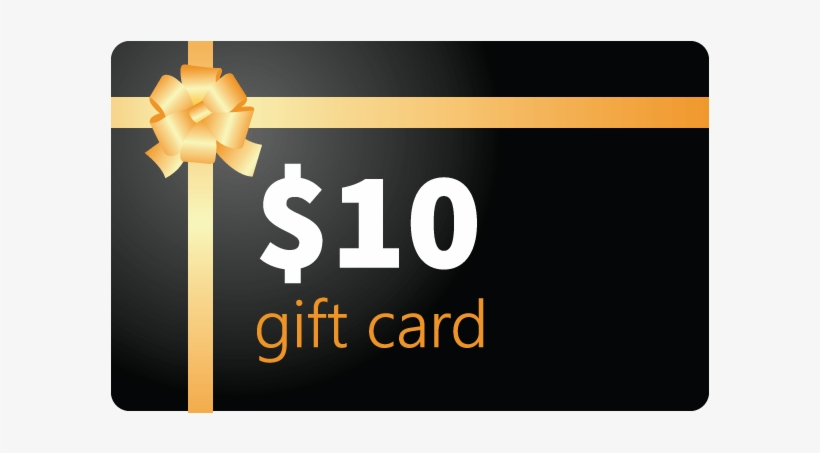 Gift Card Redeemable - 10 Gift Card, transparent png #2382568