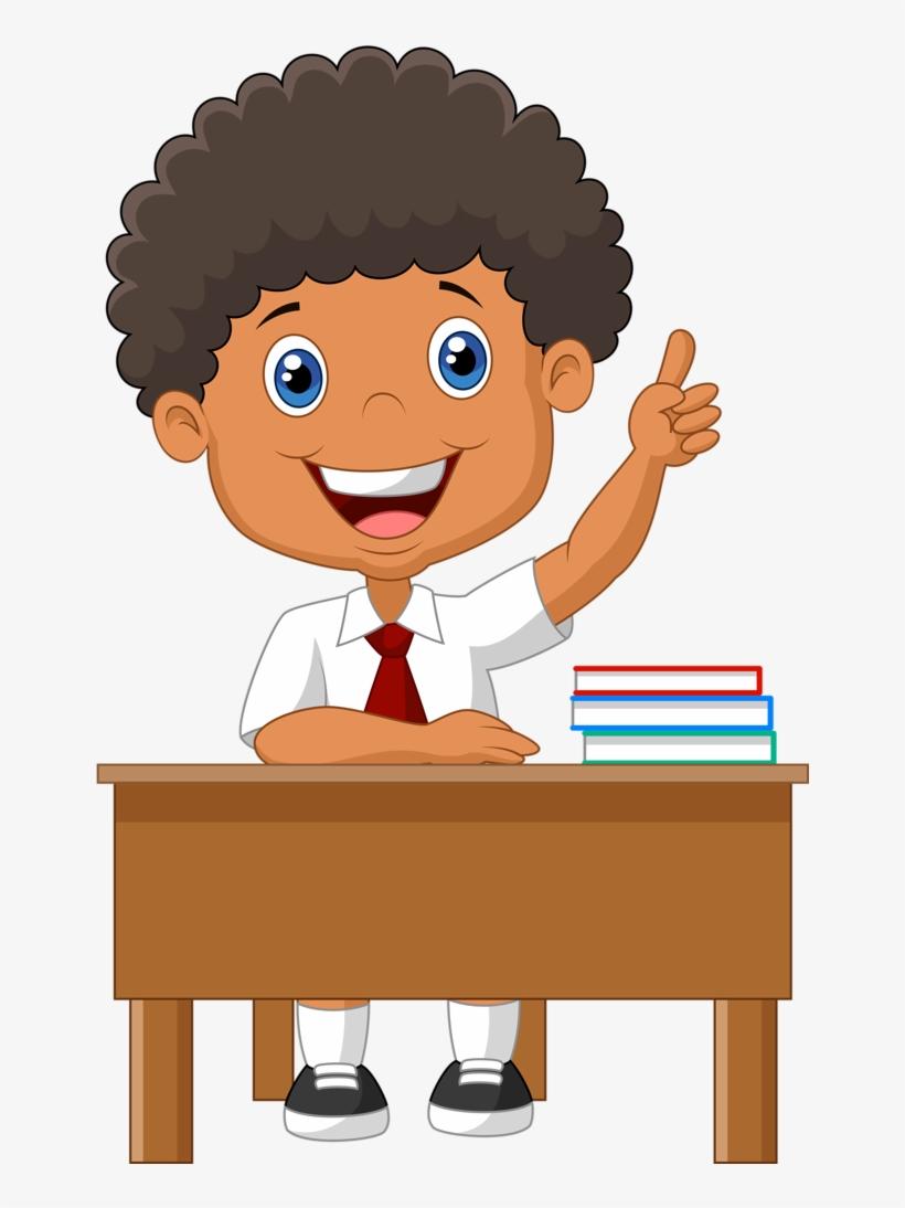 Escola & Formatura School Clipart, School Scrapbook, - Student In The Class Png Clipart, transparent png #2382869