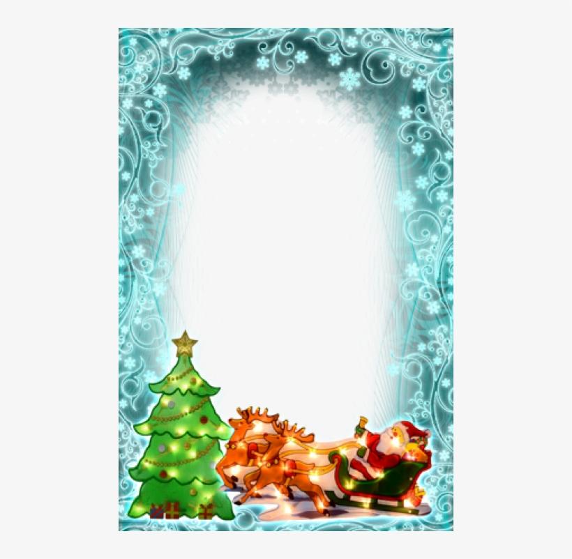 Natal Em Tons De Azul-turquesa - Christmas Decoration Metallic Light Up Sign Santa, transparent png #2385137