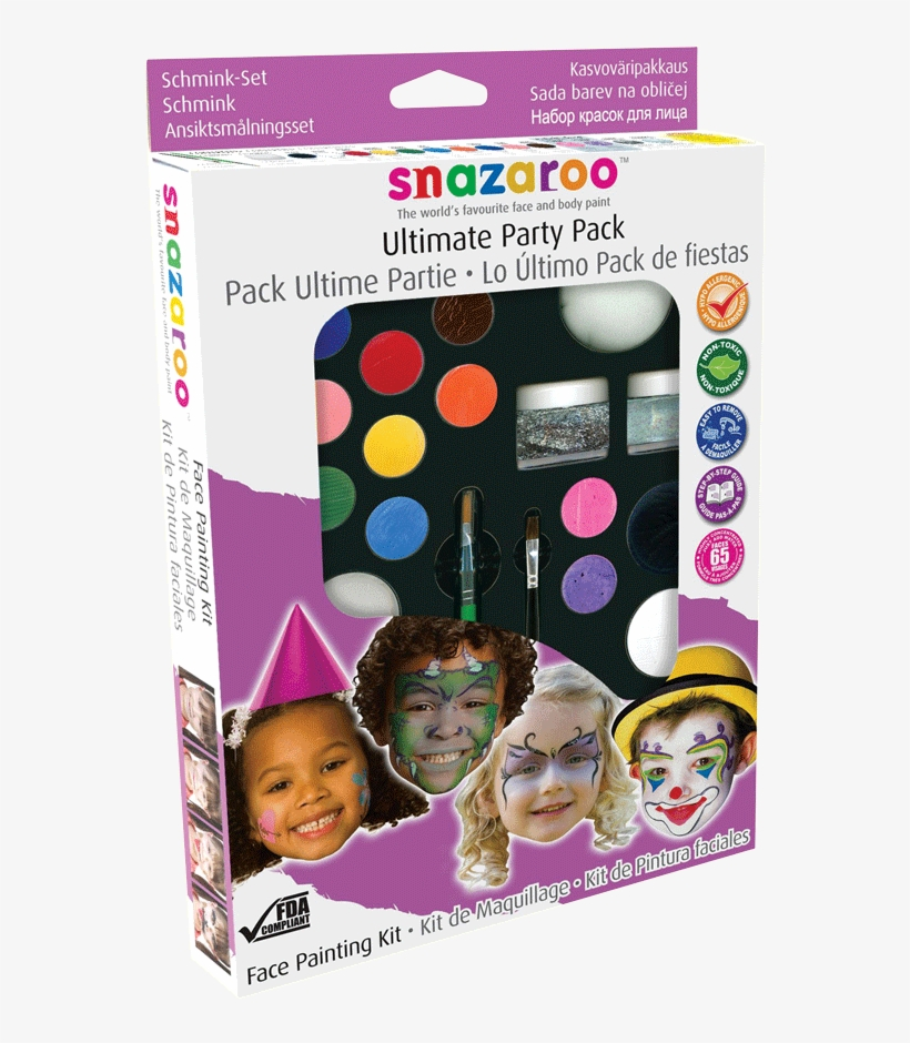 Snazaroo Face Painting Ultimate Party Pack - Snazaroo Ultimate Party Pack Face Paint, Glitter, transparent png #2385421