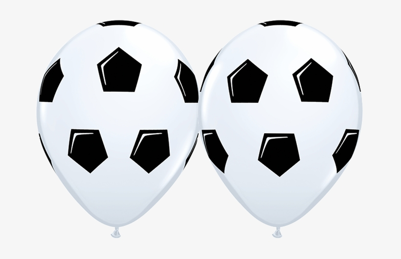 10 X Globos Látex 11 Balon De Fútbol Soccer Qualatex - Soccer Ball Balloon Png, transparent png #2386454