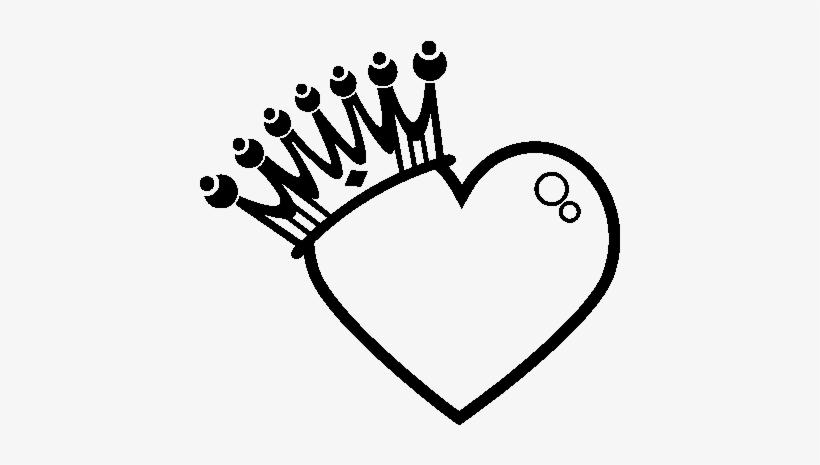 Desenho De Coração Com Coroa Para Colorir Dibujos Para