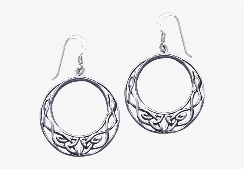 "White Bronze Open Circle Celtic Knot Earrings - ""open Circle Celtic Knot Earrings"", transparent png #2394690"