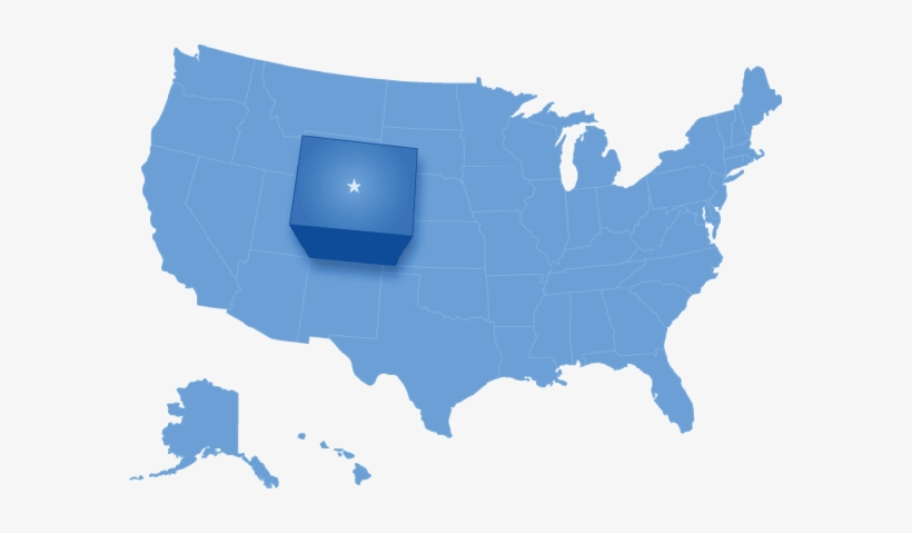 Colorado Clipart Colorado Map Clipart - Blue Map Of United States, transparent png #240163