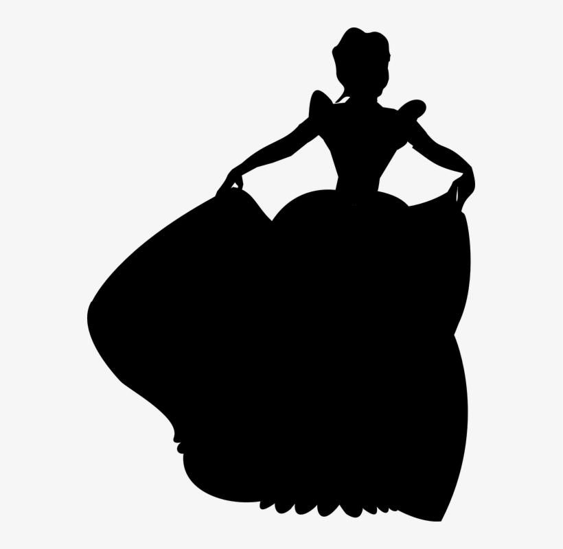 Disney Princess Silhouette Printables - Disney Princess Silhouette Png, transparent png #240406