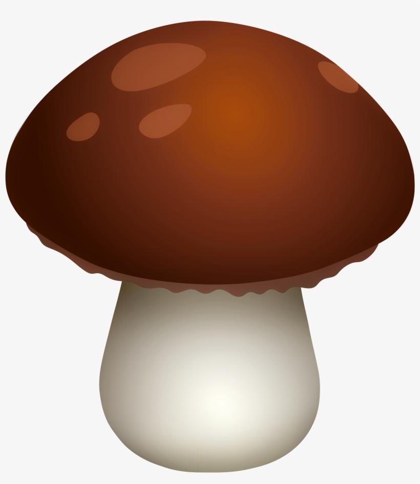 Dark Brown Mushroom Png Clipart - Mushroom Clipart, transparent png #240983