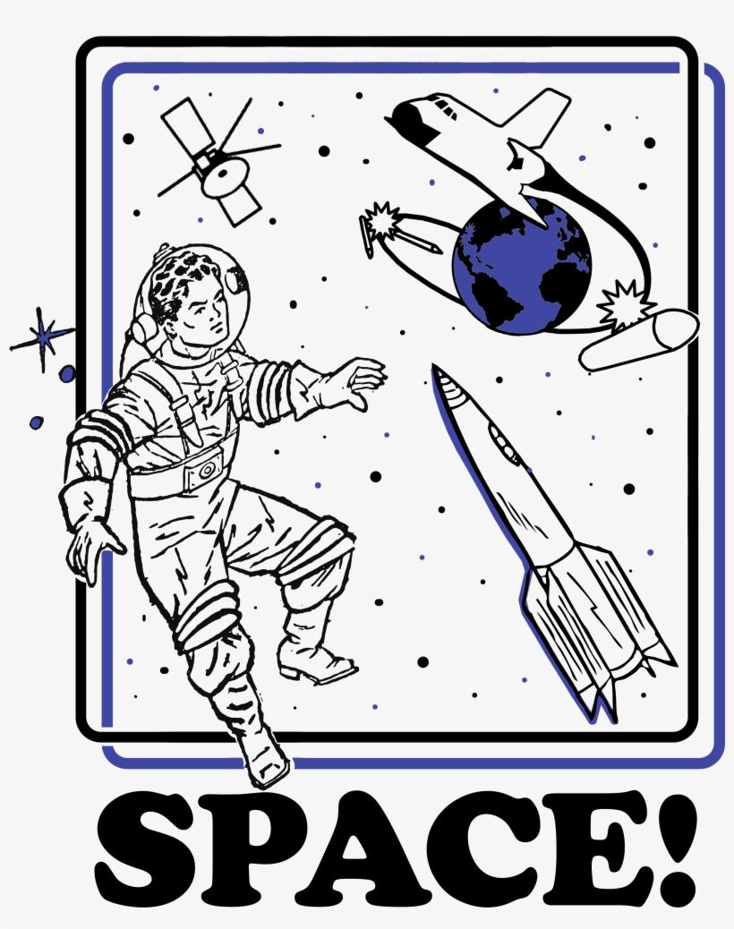 Retro Throwback Aesthetic Astronaut Design - Shit Me I'm Kiss Faced Tile Coaster, transparent png #241150