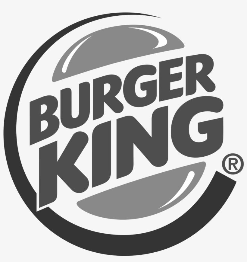 Burger King Logo Black And White - Burger King Logo B&w, transparent png #242456