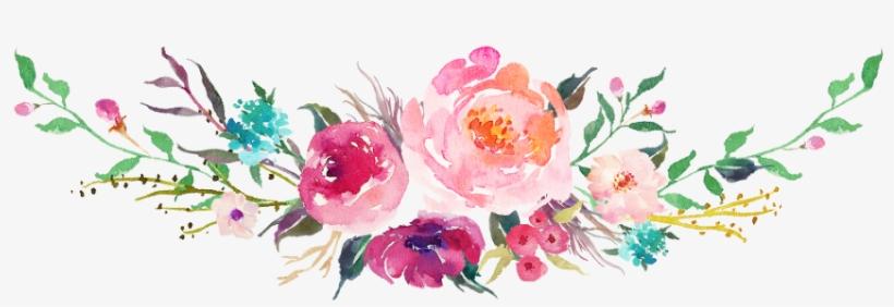 Flower Bouquet - Watercolor Bouquet Transparent Png, transparent png #243169