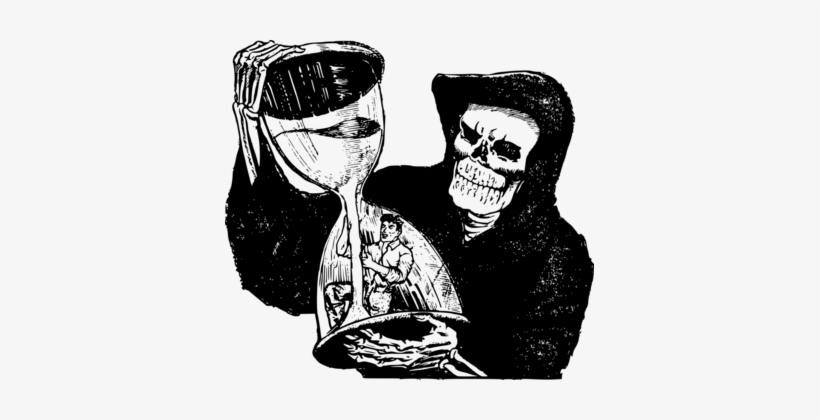 Death Computer Icons Drawing Download - Grim Reaper And Man, transparent png #243428