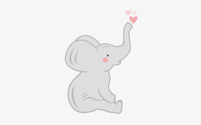 Elephant sitting. Baby clipart free transparent