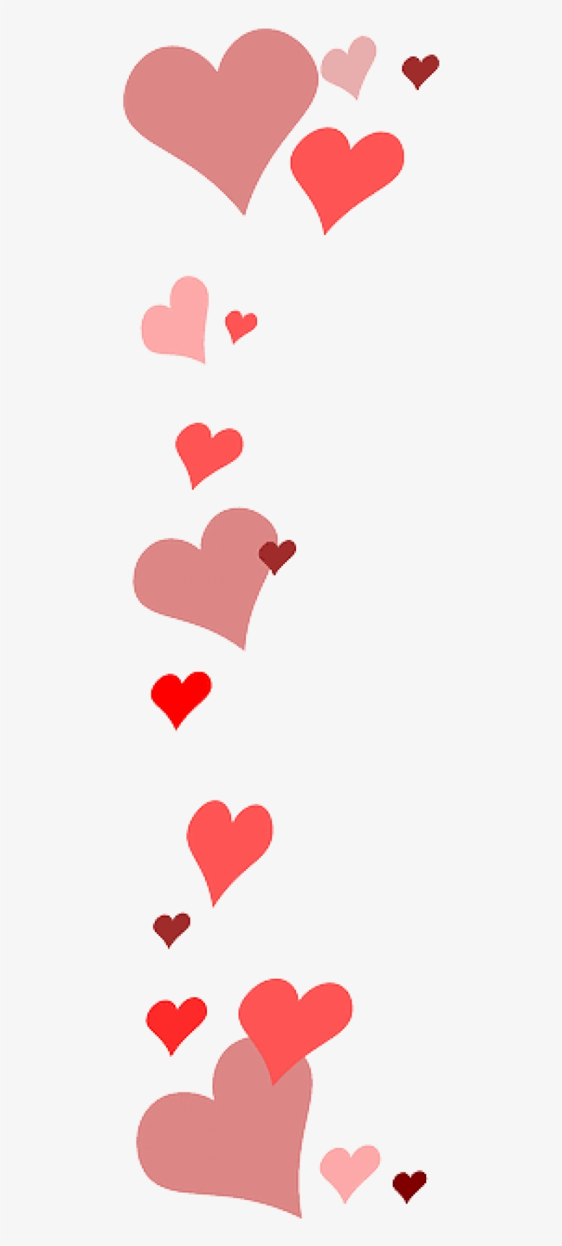 Red, Heart, Page, Love, Border, Pink, Hearts, Valentine - Red Heart Border Transparent, transparent png #243899