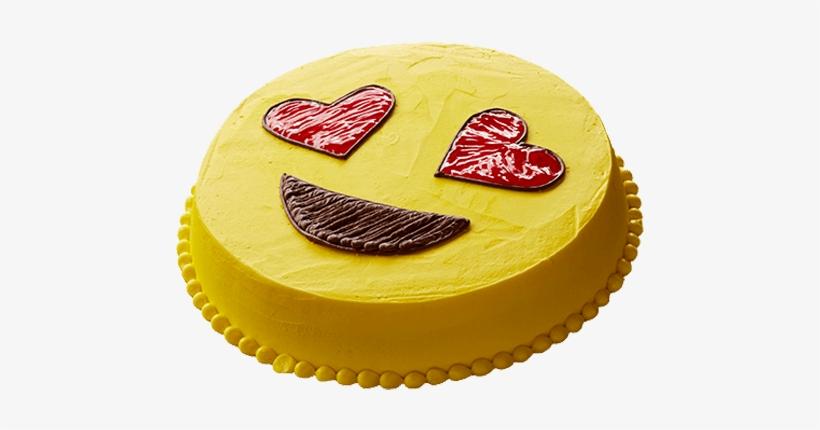 Emoji Round Ice Cream Cake - Emoji Ice Cream Cake, transparent png #244094
