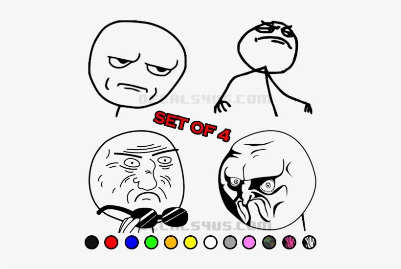 Rage Comic Meme Decals - Meme Meme Oval Ornament, transparent png #245422