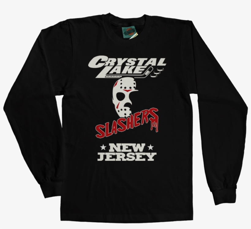 Friday 13th Part 3 Jason Voorhees Crystal Lake Slashers - Kylo Ren First Order Long Sleeve T-shirt Black Size, transparent png #245636