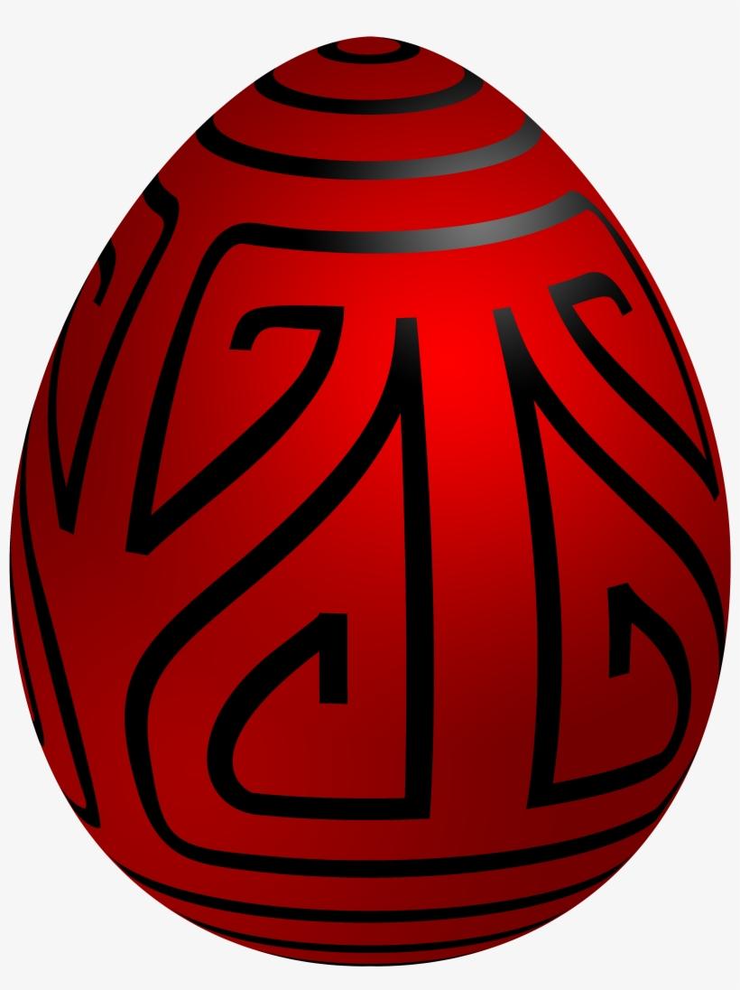 Easter Red Deco Egg Png Clip Art - Easter Egg, transparent png #246382