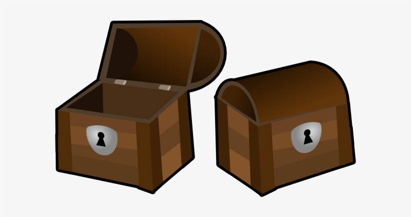 Treasure Chest Outline - Open And Close Clip Art, transparent png #247315