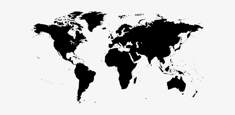 World Map Clip Art Black And White, transparent png #248144