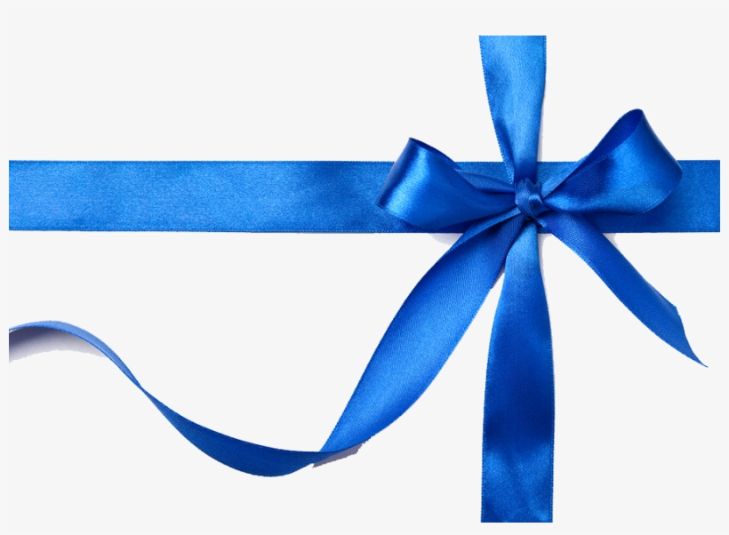 Blue Gift Bow Png - Blue Gift Ribbon Png, transparent png #248842